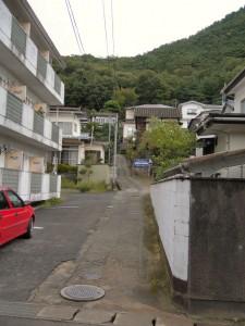 信夫山へ続く道