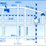 運転免許証更新連絡書(福島県公安委員会)に載っている福島運転免許センターの地図。国道 13 号線沿いにあるように見えますが、実際は…。