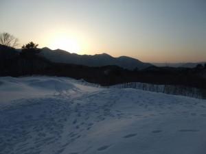 雪の日の夕暮