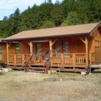 薪ストーブのあるミニログキットハウスの母屋とアトリエ、ゲストハウス(岐阜県・八百津町)