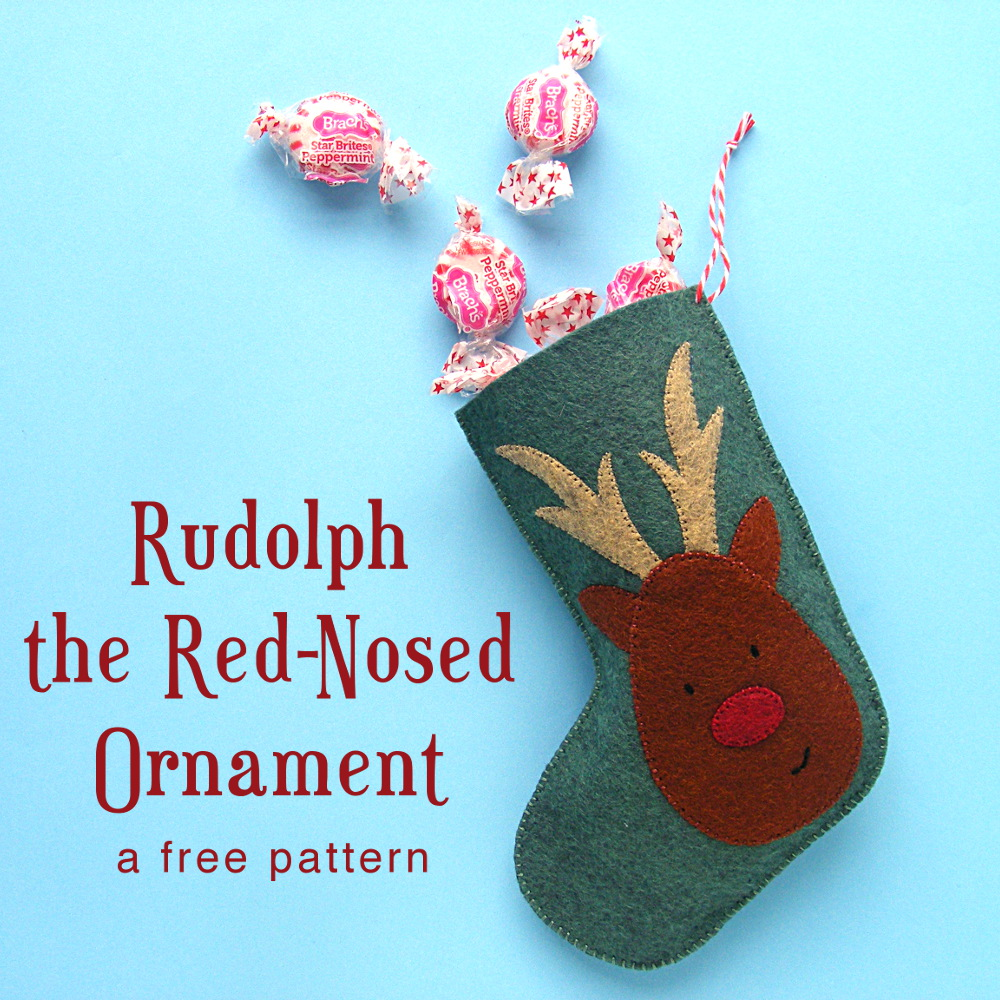 Free Christmas Pattern Rudolph The Red Nosed Ornament