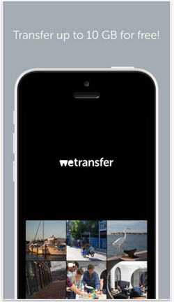 wetransfer pour iphone