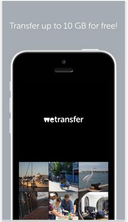 wetransfer pour iphone