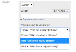 facebook pronoun