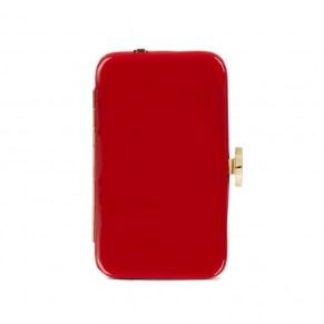 Lulu Guinness red patent iPhone clutch – £125