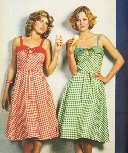 Women in 70s sundresses