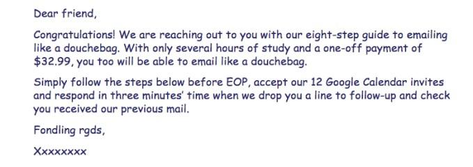 Dear Friend email