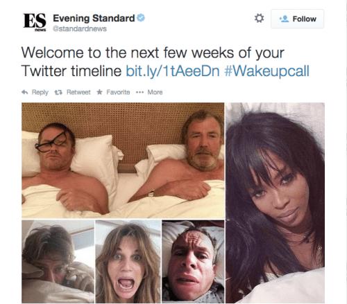 Evening Standard tweet WakeUpCall
