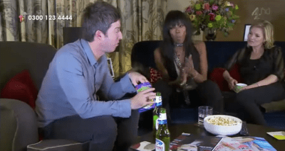 Noel Gallagher Kate Moss Naomi Campbell Gogglebox