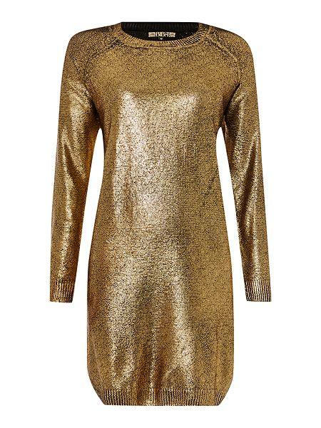 Gold jumper dress
