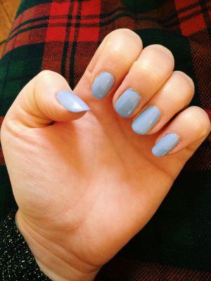 American Apparel nail polish in L Esprit with Kiss Gel top coat.