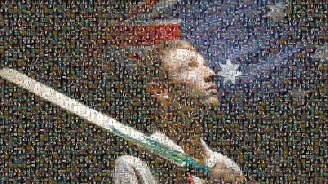 Phil Hughes tribute mosaic
