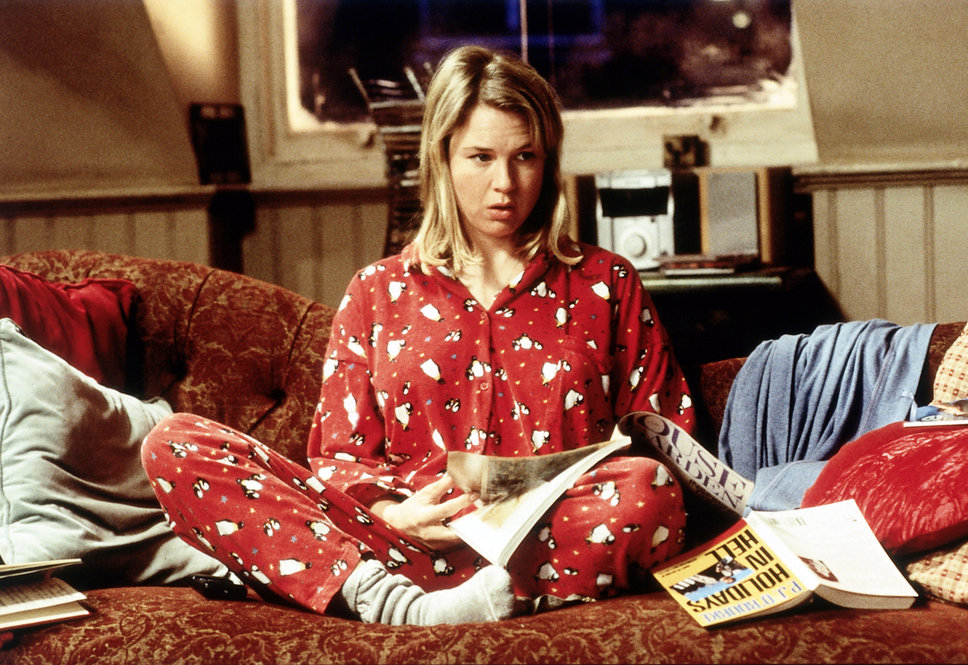 Bridget Jones in pyjamas