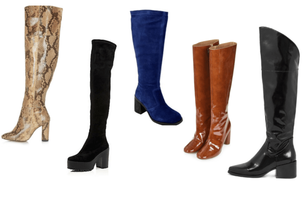 Knee-high boots selection