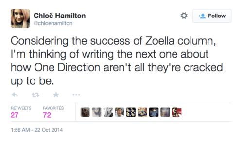Chloe Hamilton tweet
