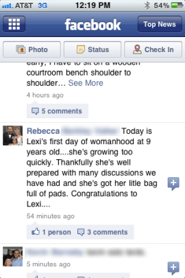 Mum-period-facebook-status