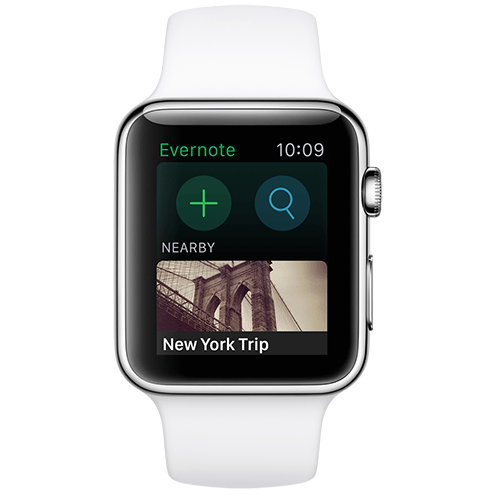Apple Watch apps: Evernote.