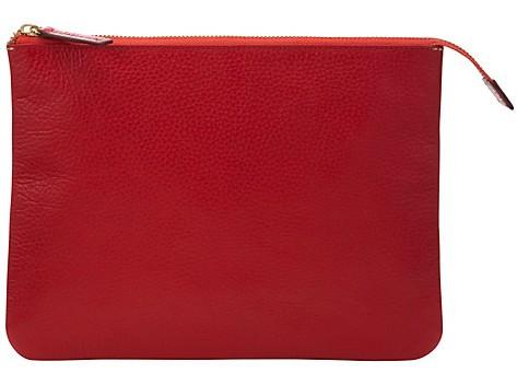 Red zip tablet purse John Lewis