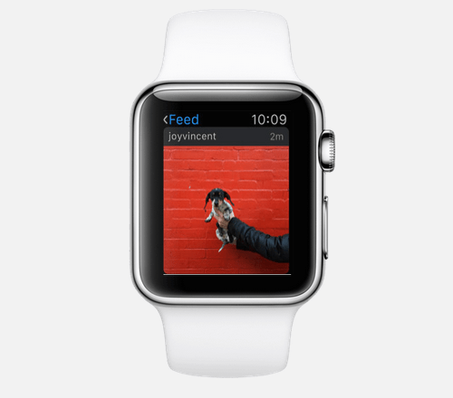 Apple Watch apps: Instagram.