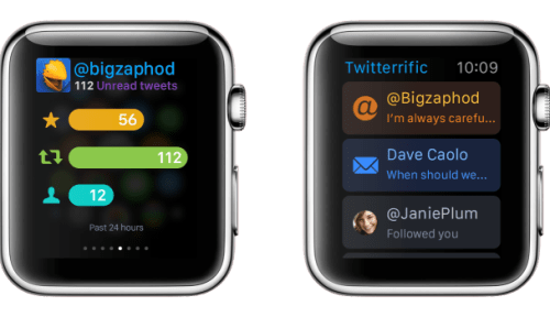 Apple Watch apps: Twitterific.