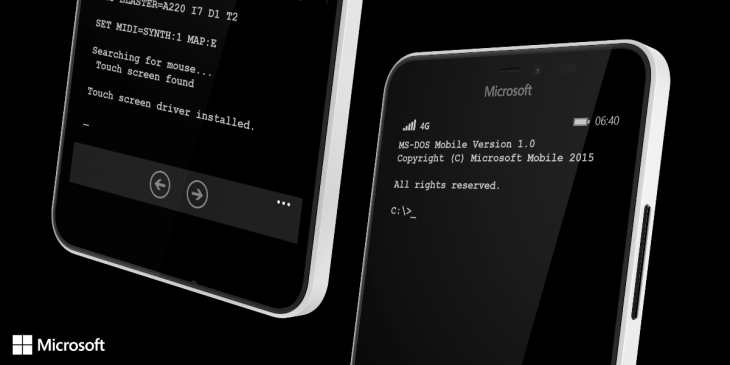 Microsoft's April Fool, MS-DOS for Lumia.
