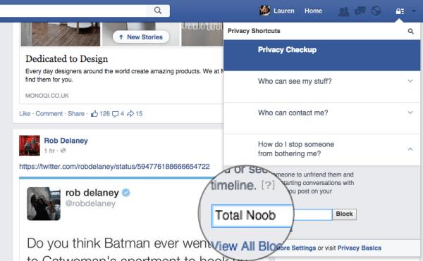 Facebook block step 3