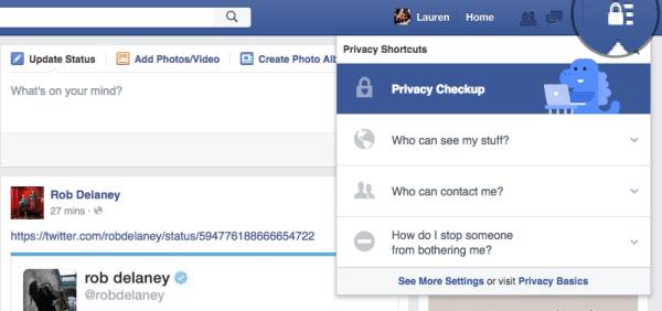 Facebook block step 1