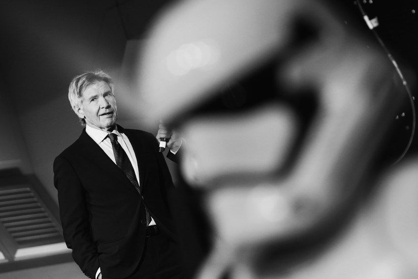 """Harrison Ford attends """"Star Wars: The Force Awakens"""" European Premiere >> at Leicester Square on December 16, 2015 in London, England. (Photo by Vittorio Zunino Celotto/Getty Images for Walt Disney)"""