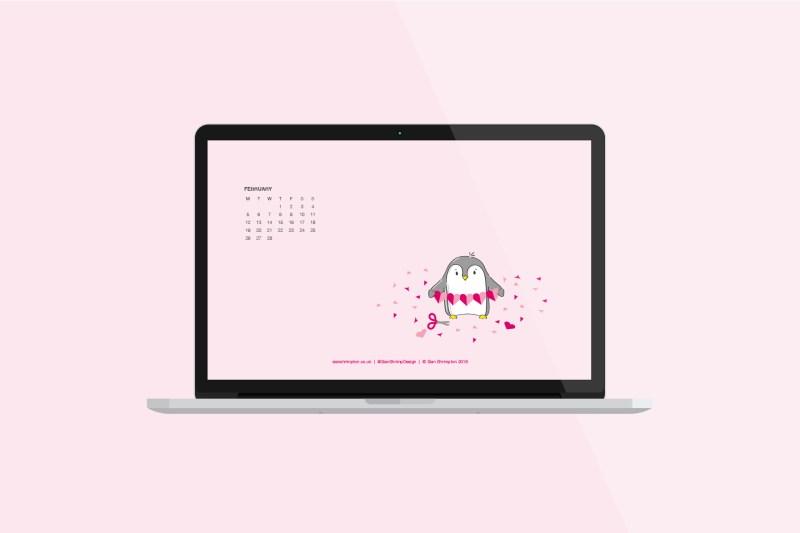 Sian Shrimpton February Penguin Desktop