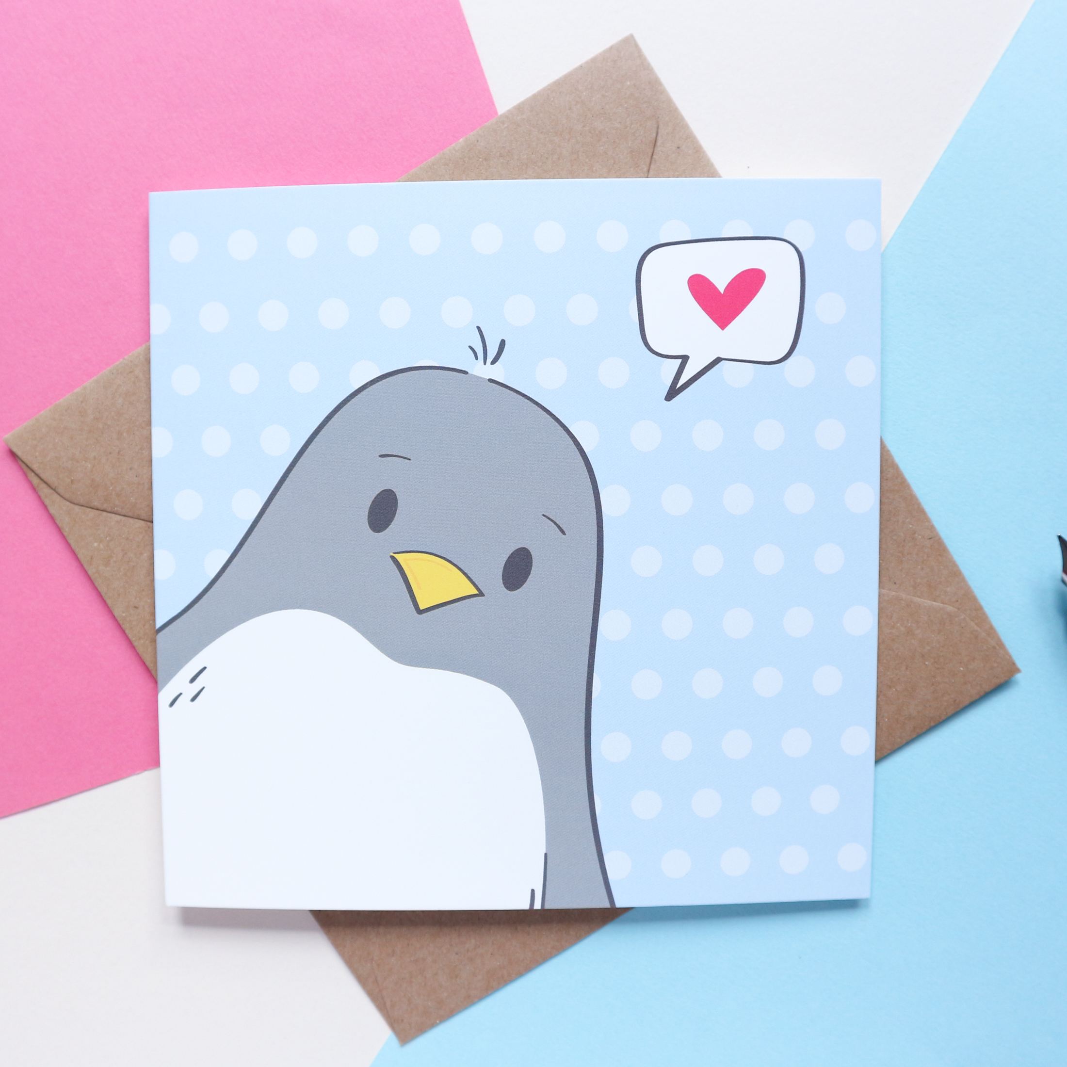 Sian Shrimpton Cute Penguin Note Card