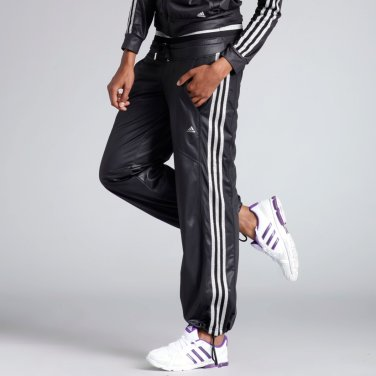 Black Adidas Woven Tracksuit Lower Body Side