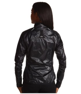 Shiny Black Mizuno Sprinter Jacket Back View