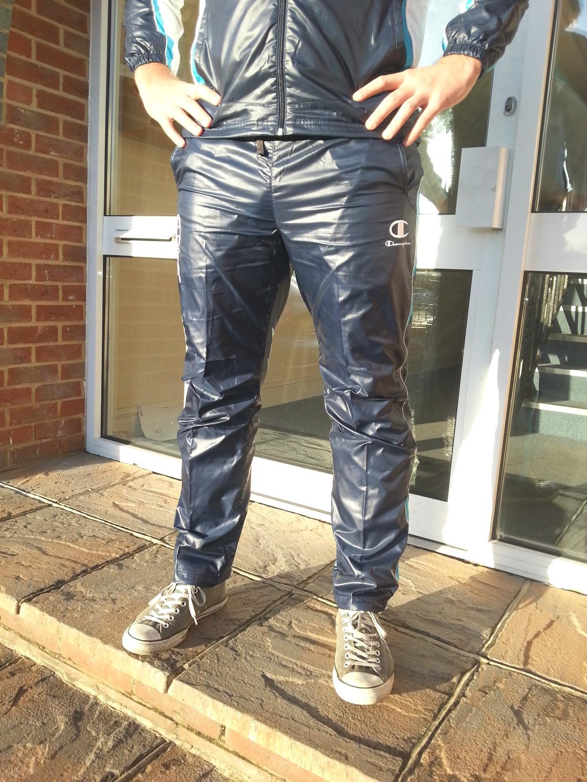Men's Champion Shiny Tracksuit Hands on Hips