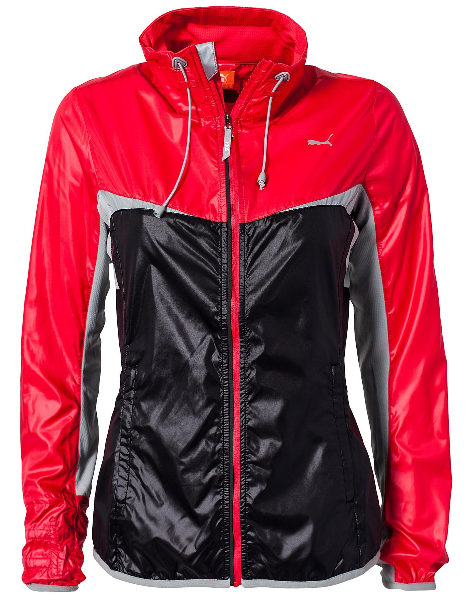 Black and Red Shiny Puma Jacket
