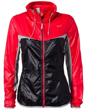 Black and Red Shiny Puma Jacket