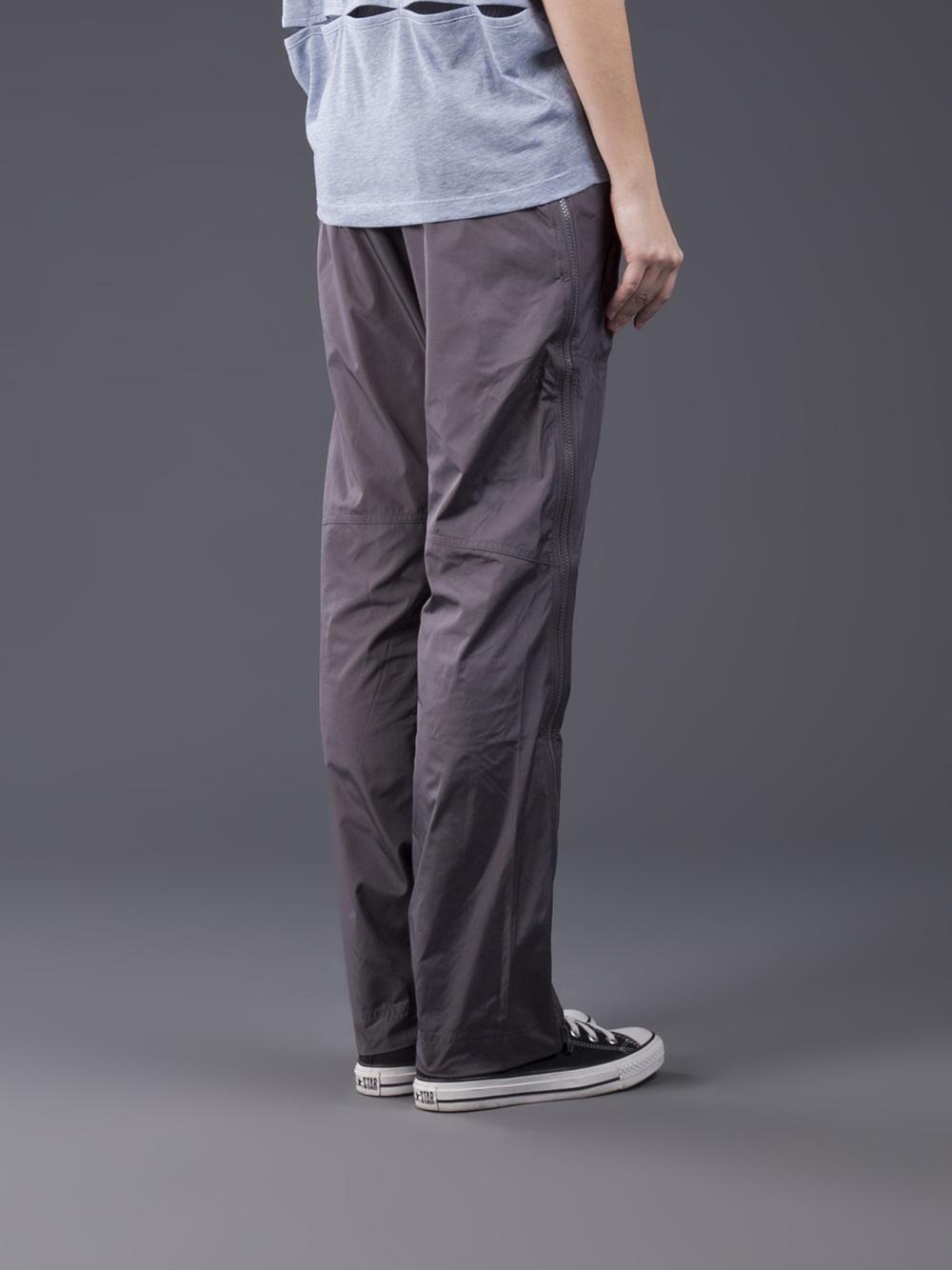 Adidas Stella McCartney Pants Studio Woven in Charcoal Gray Back View