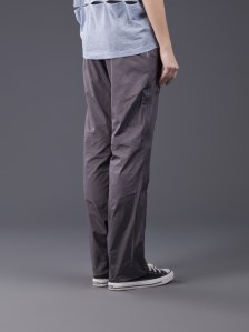 Adidas Stella McCartney Pants Studio Woven in Charcoal Gray Back View