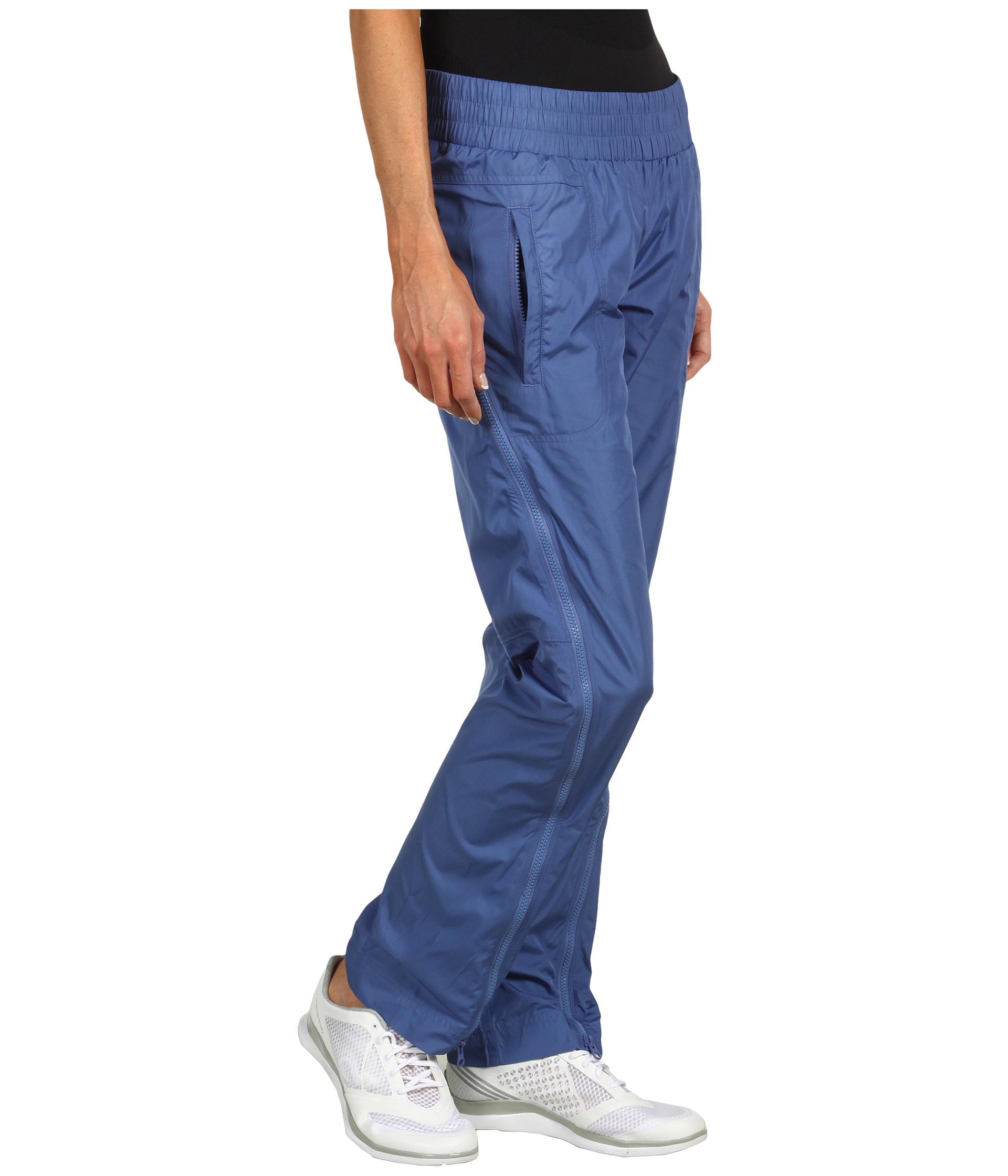 Adidas Stella McCartney Studio Woven Pants in Baby Blue Profile View
