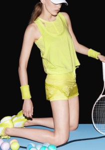 Adidas Stella McCartney Yellow Tennis Shorts