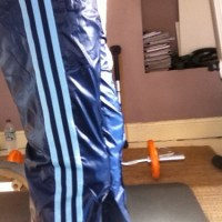 Shiny Blue Adidas Originals Pants