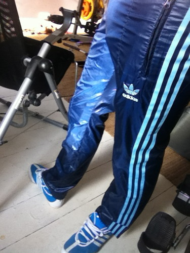 Adidas Blue Cal Surf Shiny Pants