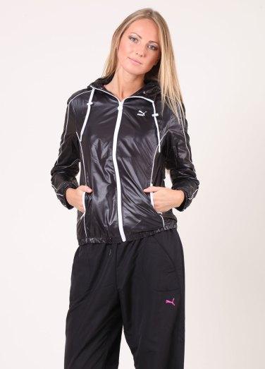 Shiny Black Puma Jacket Full View
