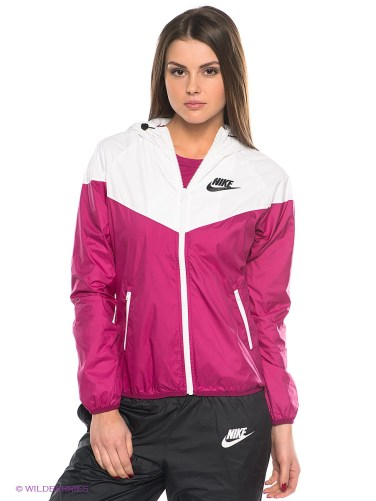Pink Women's Nike Tracksuit Front View