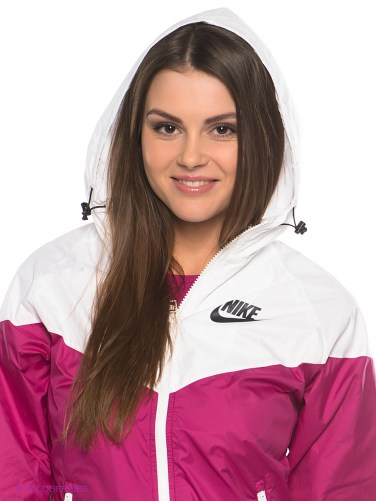Pink Women's Nike Tracksuit Hood View