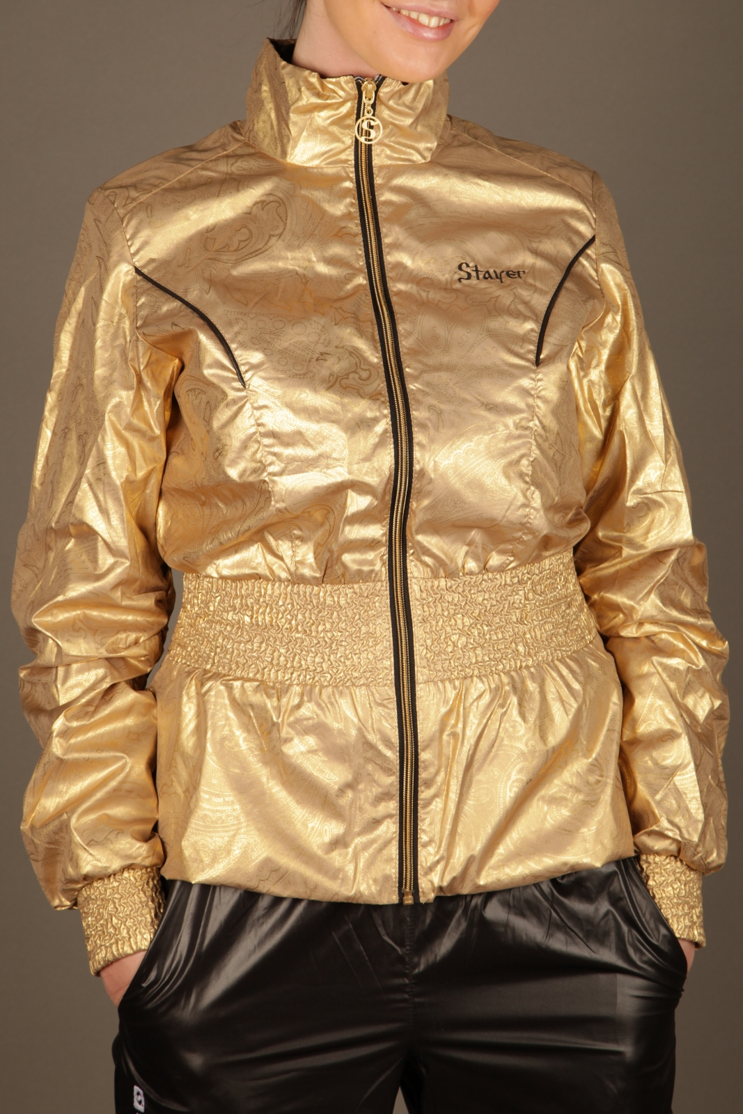 Black and Gold Stayer Tracksuit 2