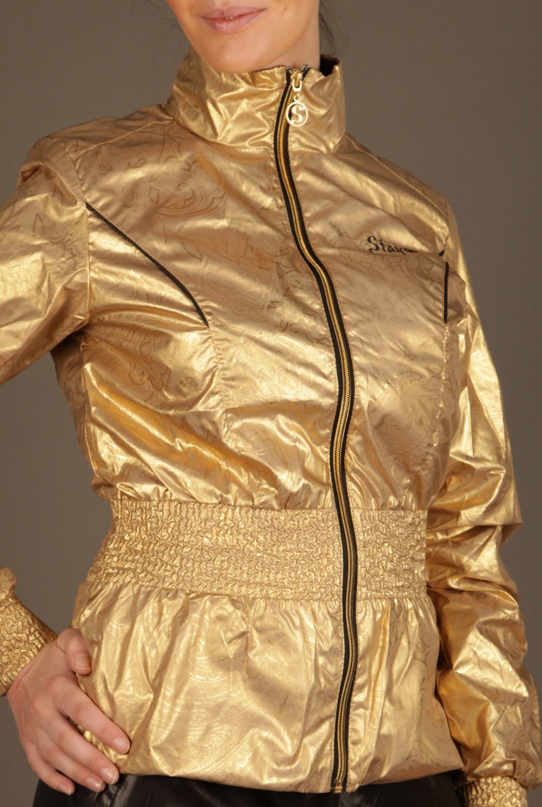Black and Gold Stayer Tracksuit 3