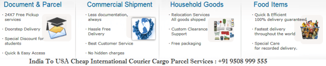 India to USA Courier Charges - Free Home Pickup