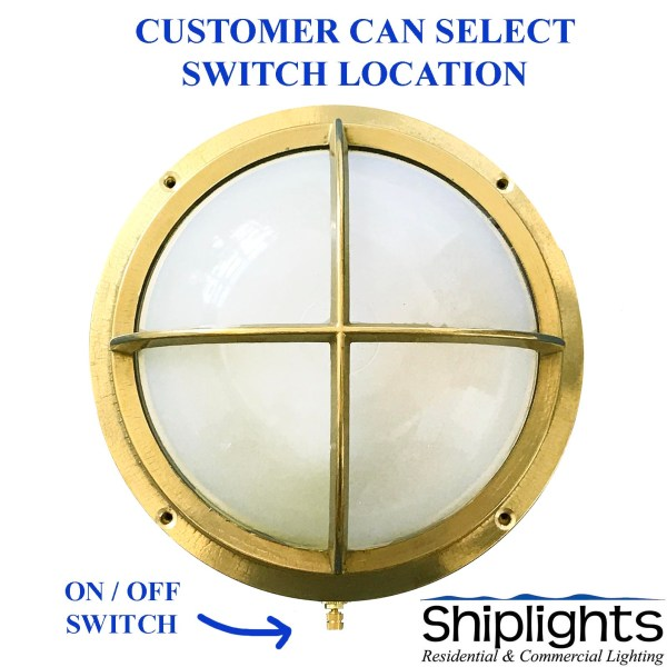 Nautical Bunk Light - Brass Round Bulkhead