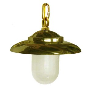 Solid Brass Modern Ceiling Pendant by Shiplights (NC-4)