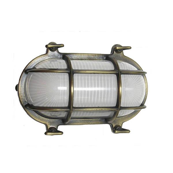Shiplights Oval Cage Bulkhead Sconce